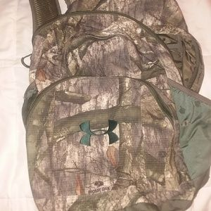 Under Armour camouflage book bag